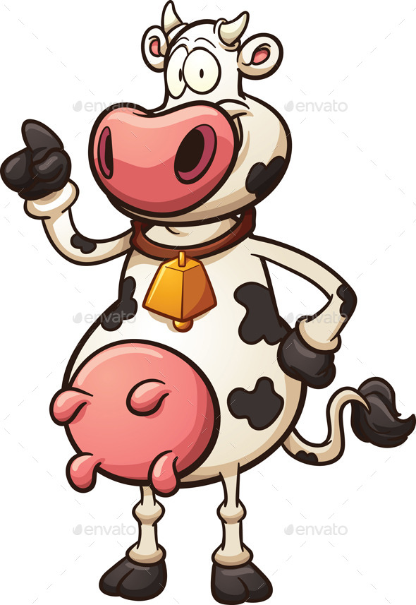 GraphicRiver Cartoon Cow 11547583
