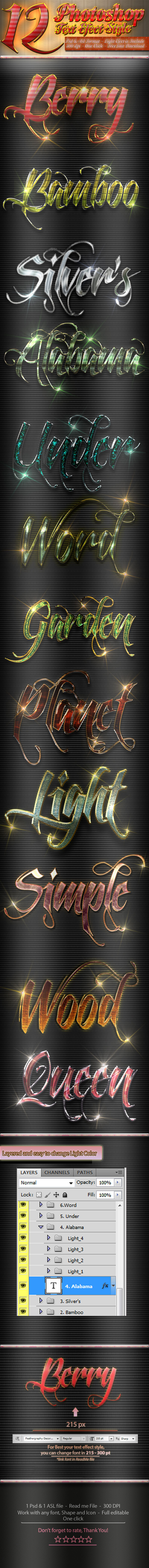 GraphicRiver 12 Photoshop Text Effect Styles Vol 11 11547602