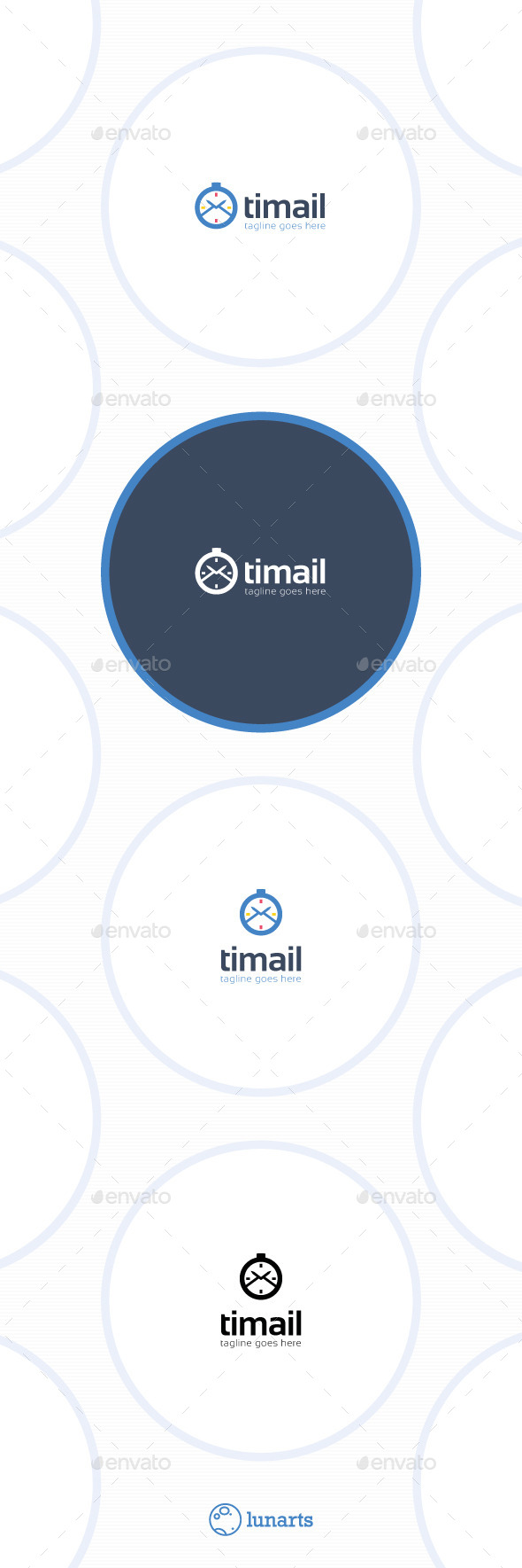 GraphicRiver Time Mail Logo 11547603