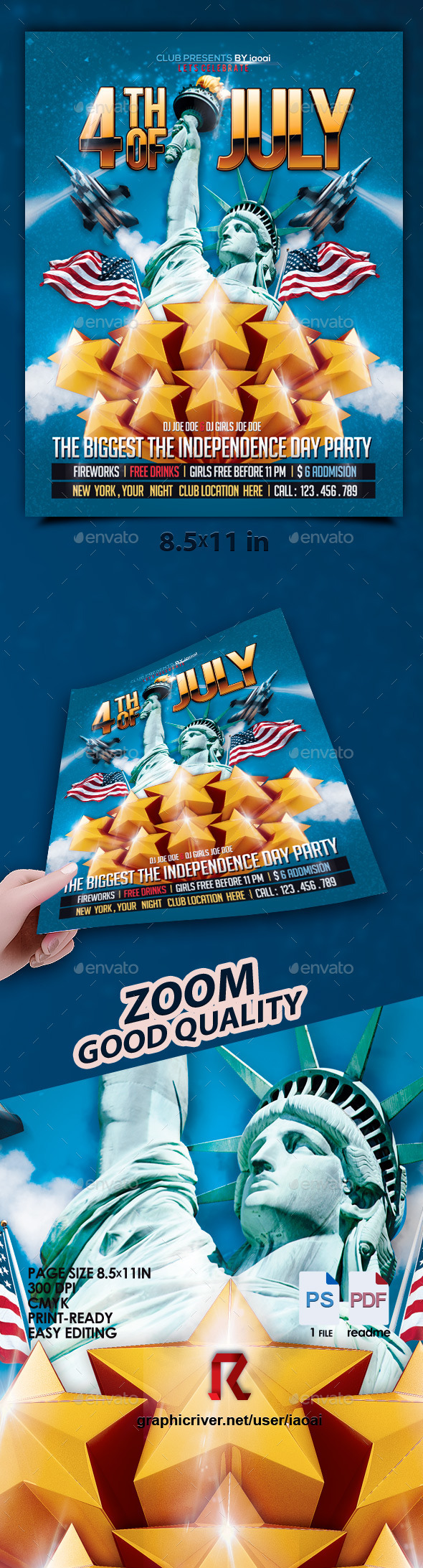 GraphicRiver 4th of July Flyer 11447724