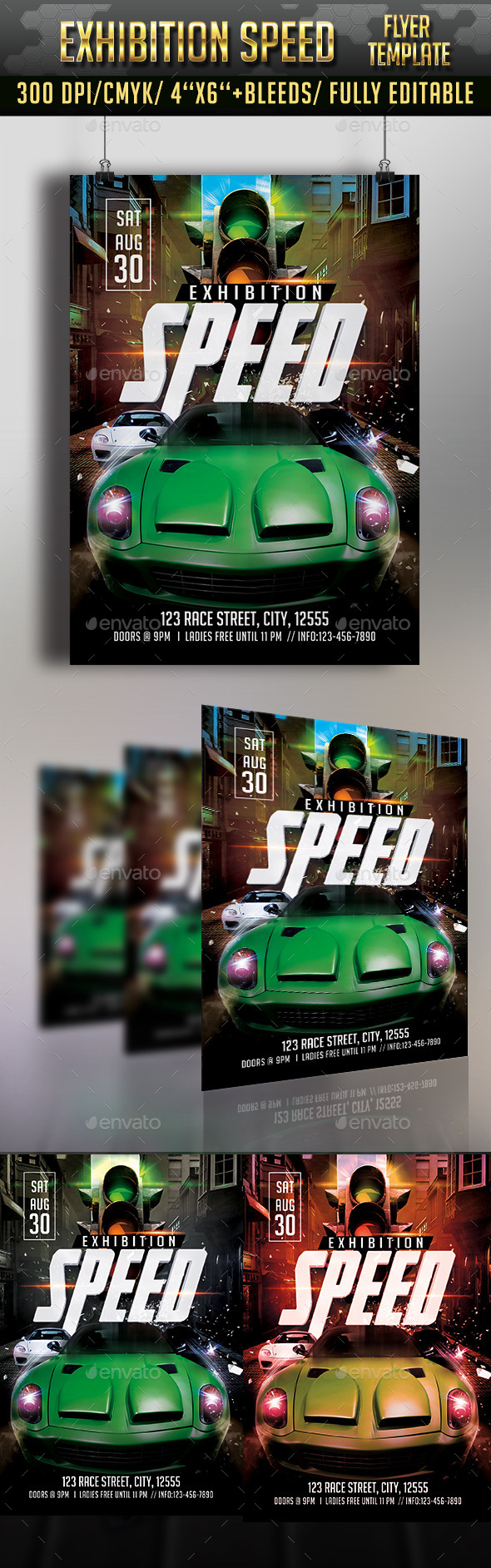 GraphicRiver Speed Exhibiton Flyer Template 11439124