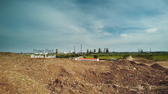 Waste Land by Power Plant