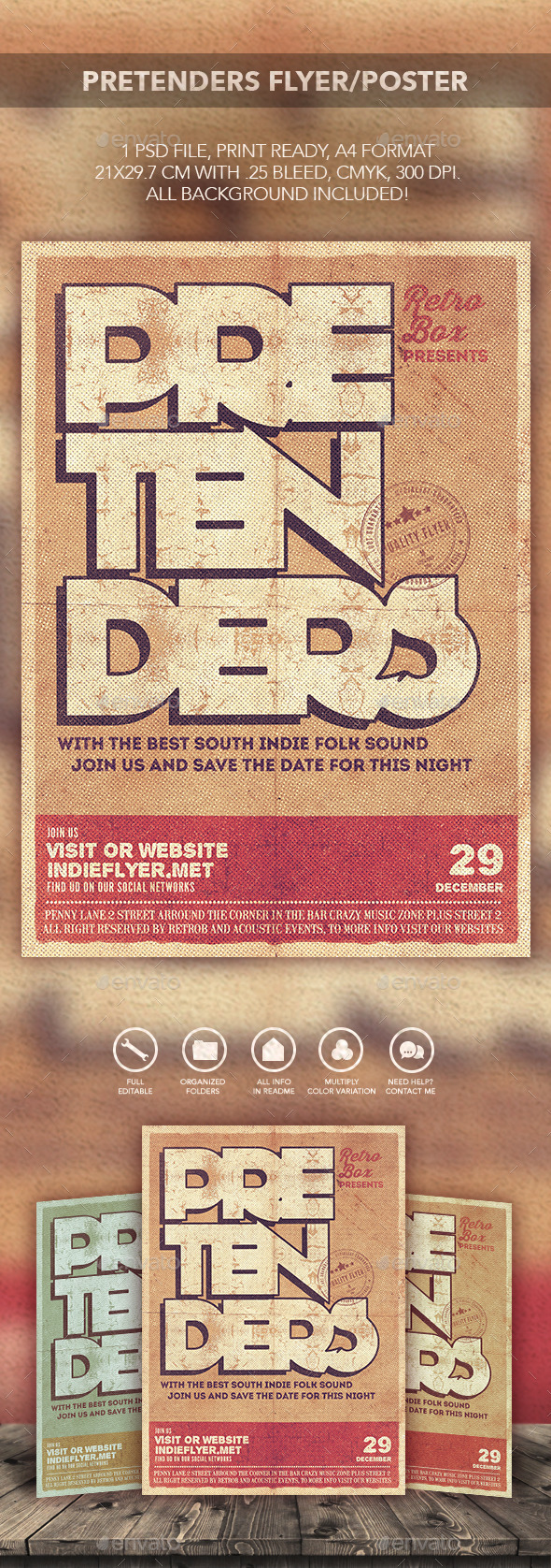 GraphicRiver Pretenders Flyer Poster 11547887