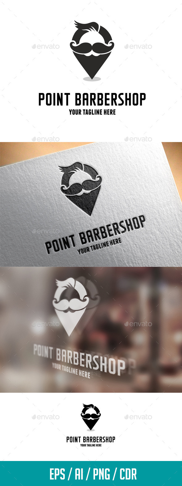 GraphicRiver Point Barbershop Logo Template 11547912