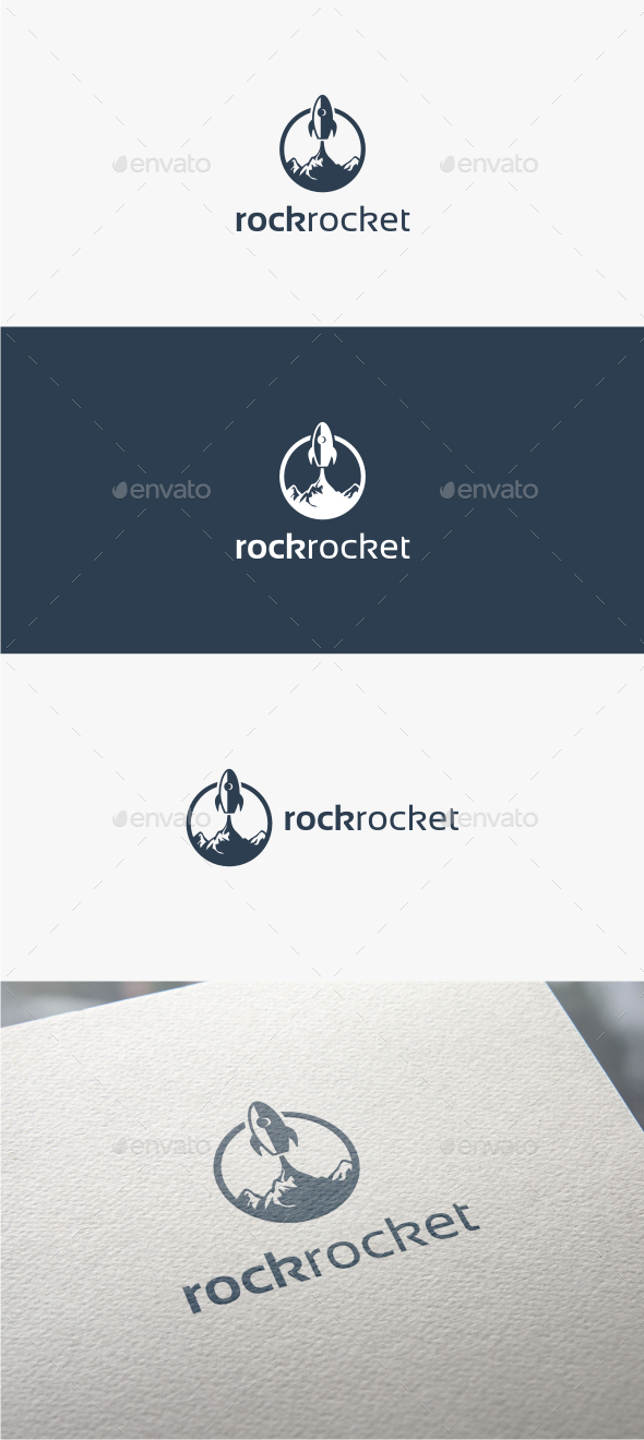 GraphicRiver Rock Rocket Logo Template 11548011