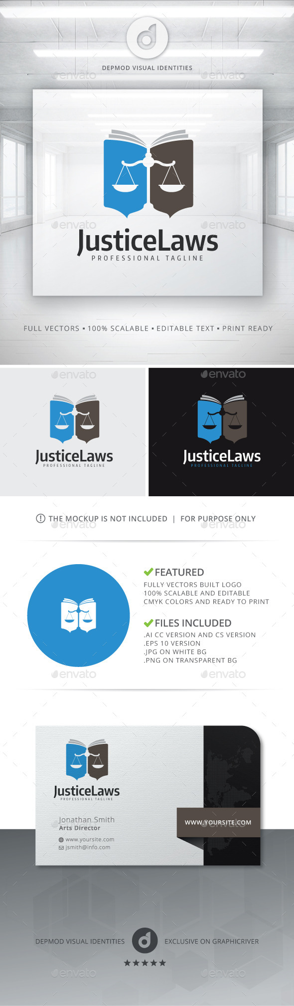 GraphicRiver Justice Laws Logo 11548120