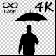 Umbrella Businessman Silhouette - VideoHive Item for Sale