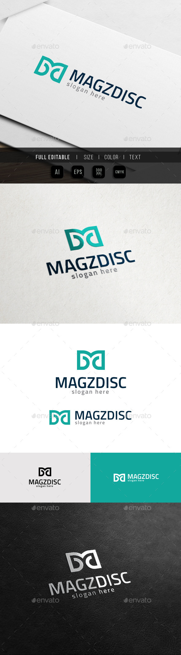 GraphicRiver Master Design Apparel Brand M MD Logo 11548239