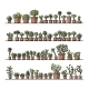 Shelves With Cactus In Pots - GraphicRiver Item for Sale