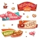 Vector Set Of Brightly Banners For Cafe, Bakery - GraphicRiver Item for Sale