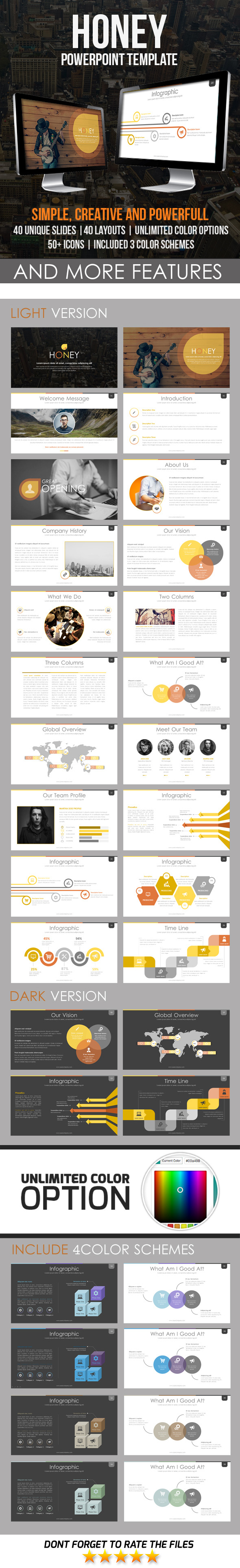 GraphicRiver Honey PowerPoint Template 11548292