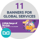 Flat Concept Banners for Professional Services - GraphicRiver Item for Sale