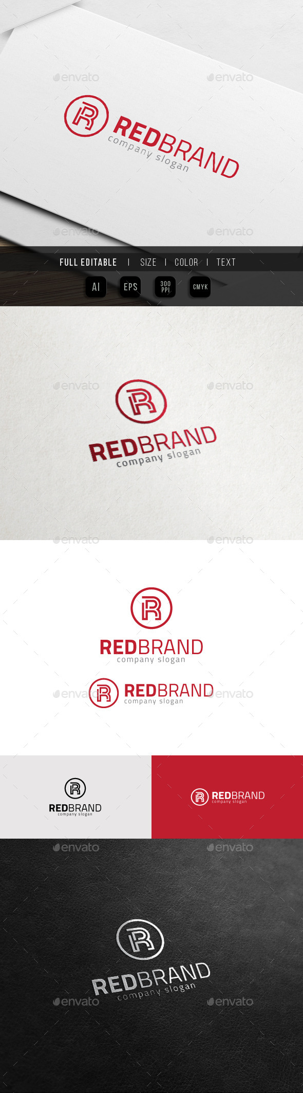 GraphicRiver Red Brand Finance Marketing Group R Logo 11548328