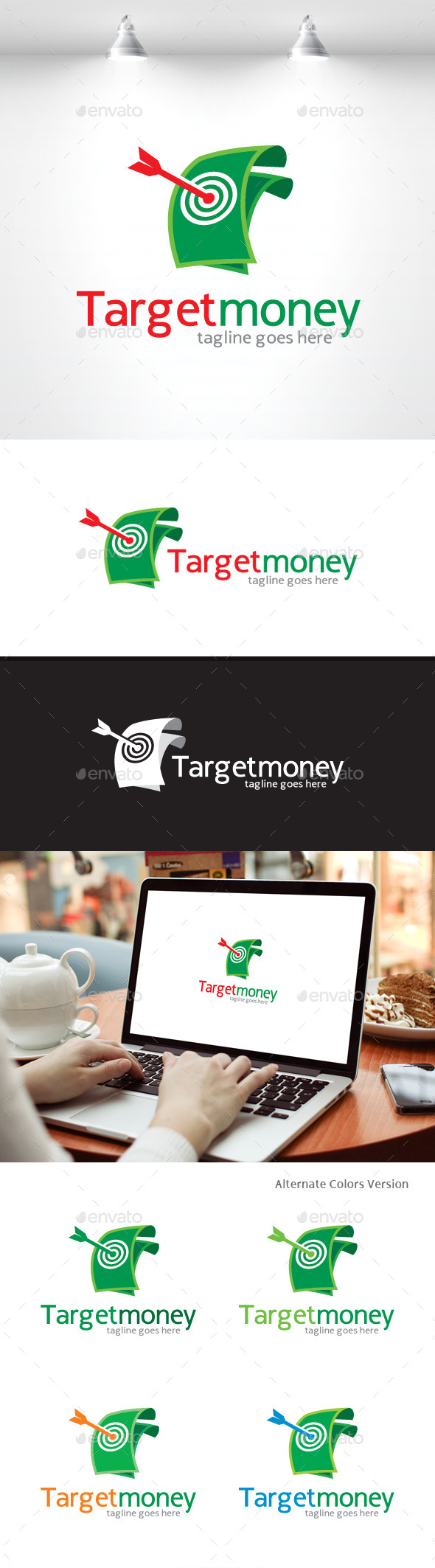 GraphicRiver Target Money Logo 11548358