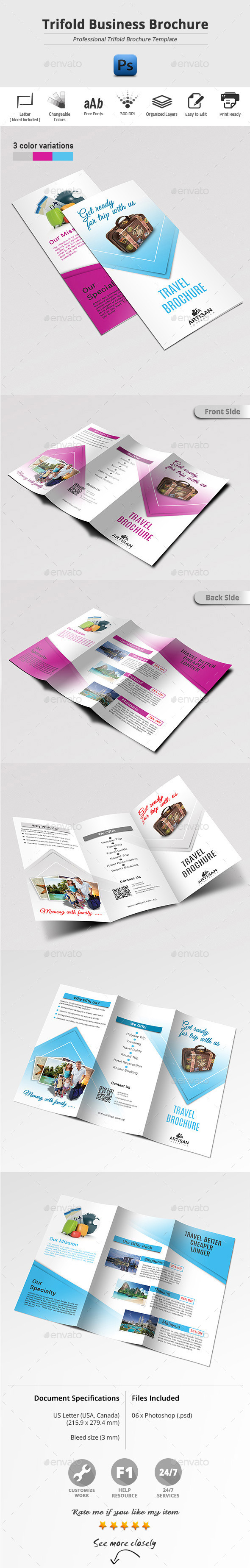 GraphicRiver Trifold Business Brochure 11548373