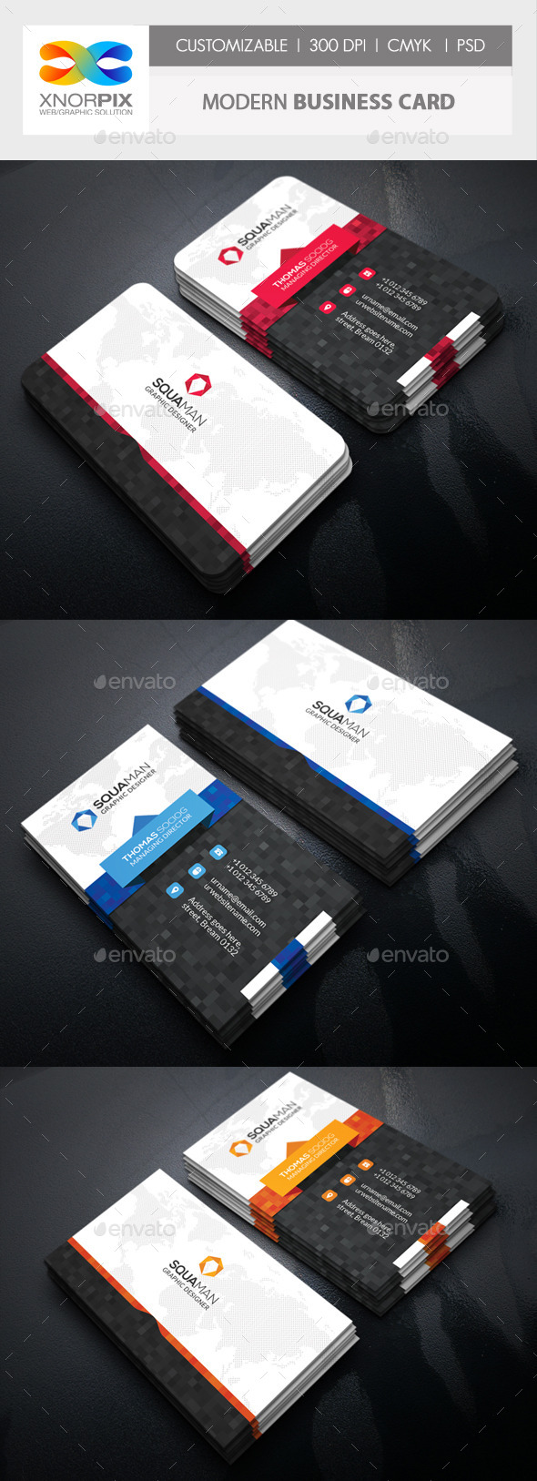 GraphicRiver Modern Business Card 11548442