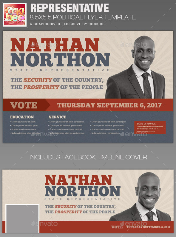 GraphicRiver Representative Political Flyer Template 11548581