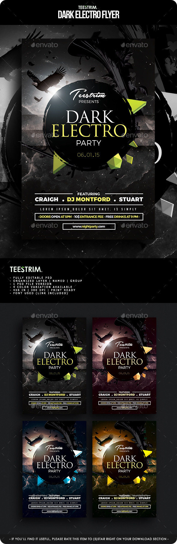GraphicRiver Dark Electro Flyer Template 11548615