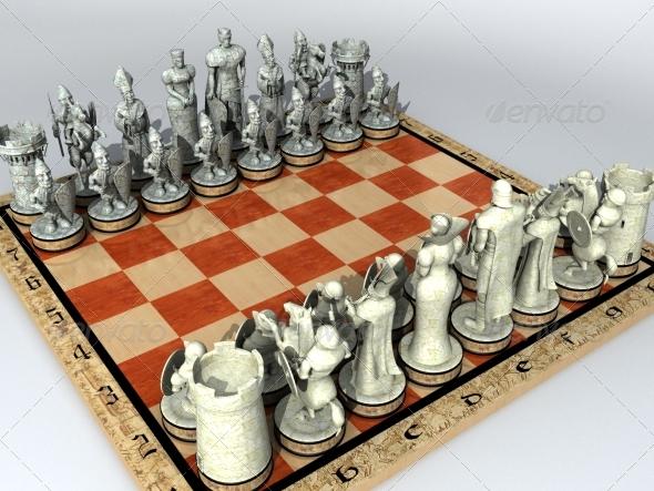 3DOcean Chess Set 142291