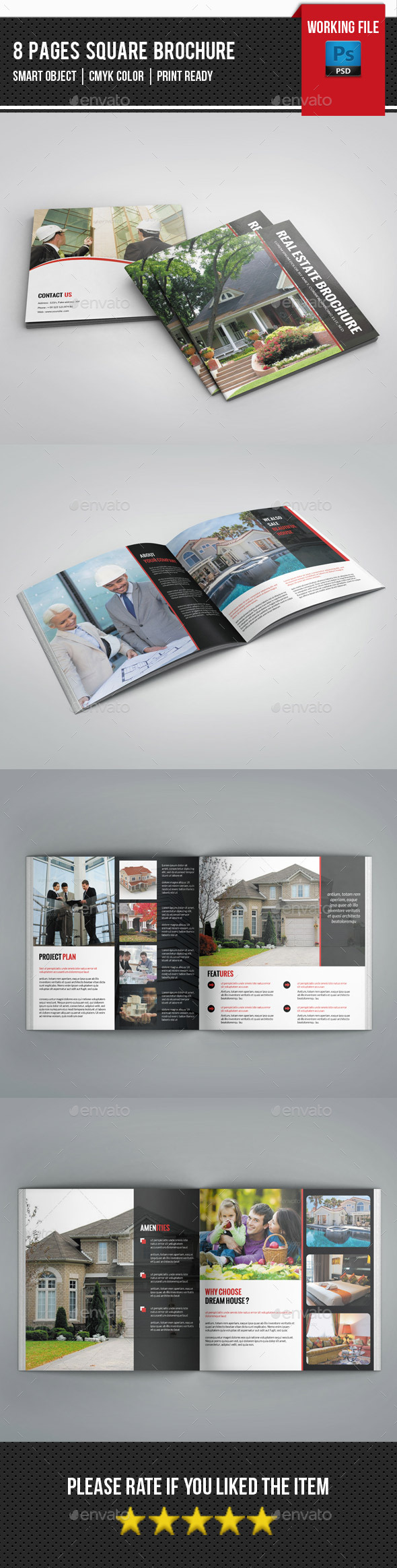 GraphicRiver Square Bifold Brochure for Real Estate-v250 11548731