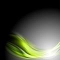 Green glowing waves on dark background - PhotoDune Item for Sale