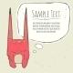 Vector Illustration Of Little Pink Monster - GraphicRiver Item for Sale