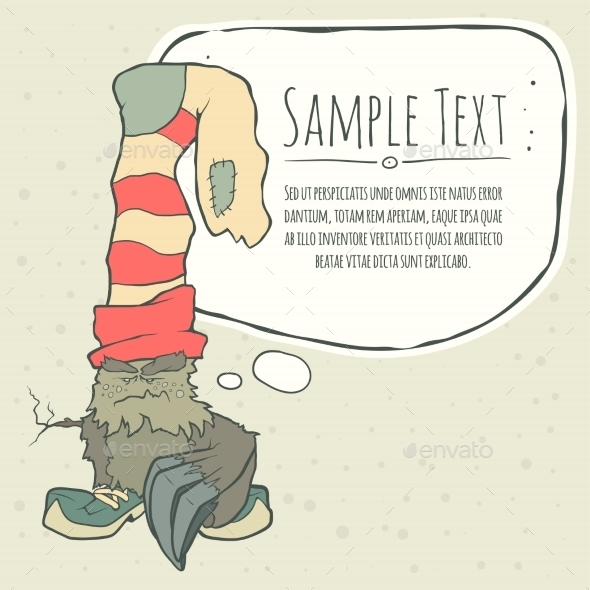 GraphicRiver Vector Illustration Monster With a Sock 11548796