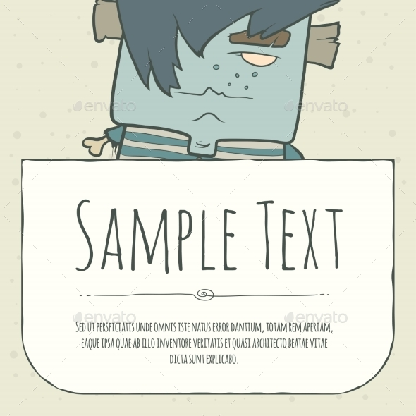 GraphicRiver Doodle Cartoon Monster Greeteng Or Invitation 11548798