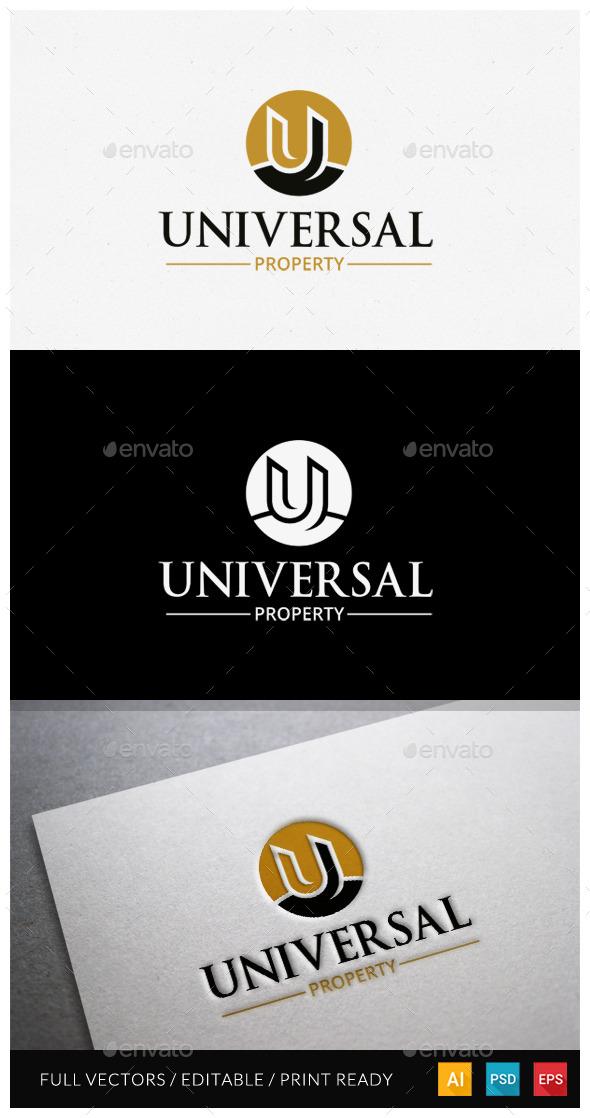 GraphicRiver Universal Property Letter U logo 11544680