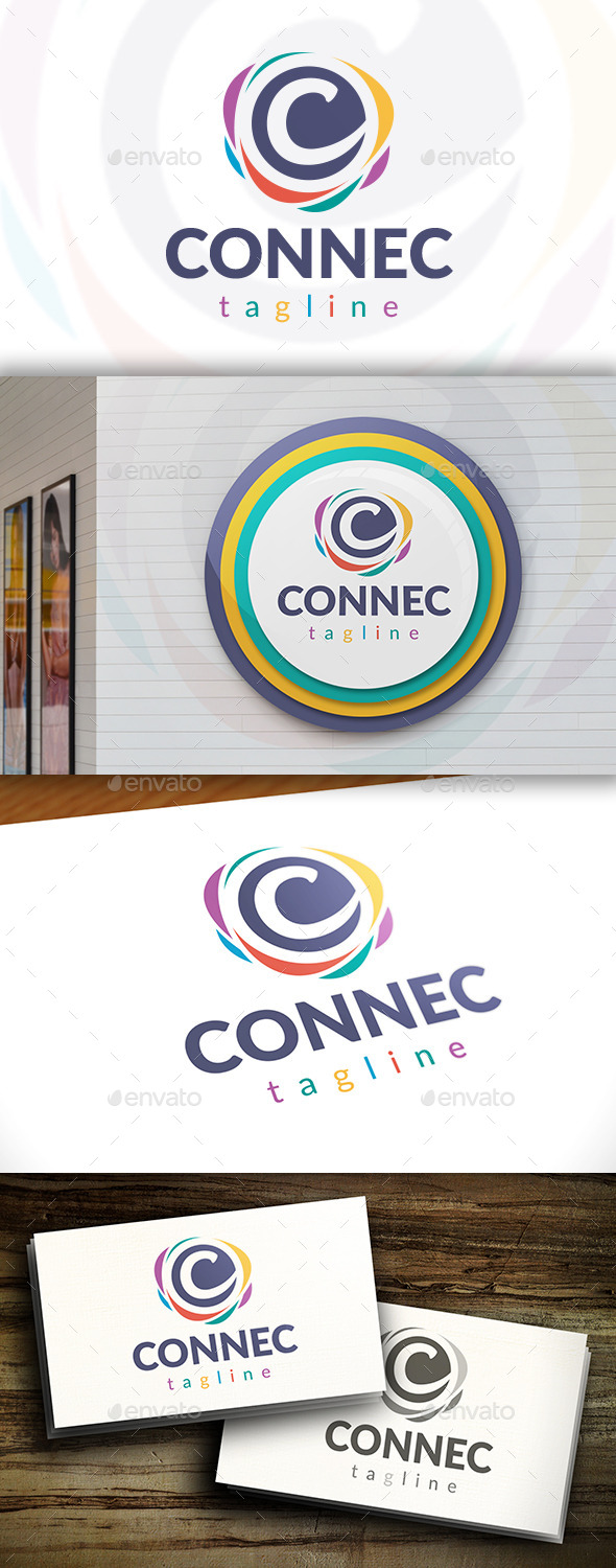 GraphicRiver Connect C Letter Logo 11549038
