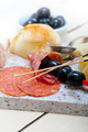 mix cold cut on a stone with fresh pears - PhotoDune Item for Sale