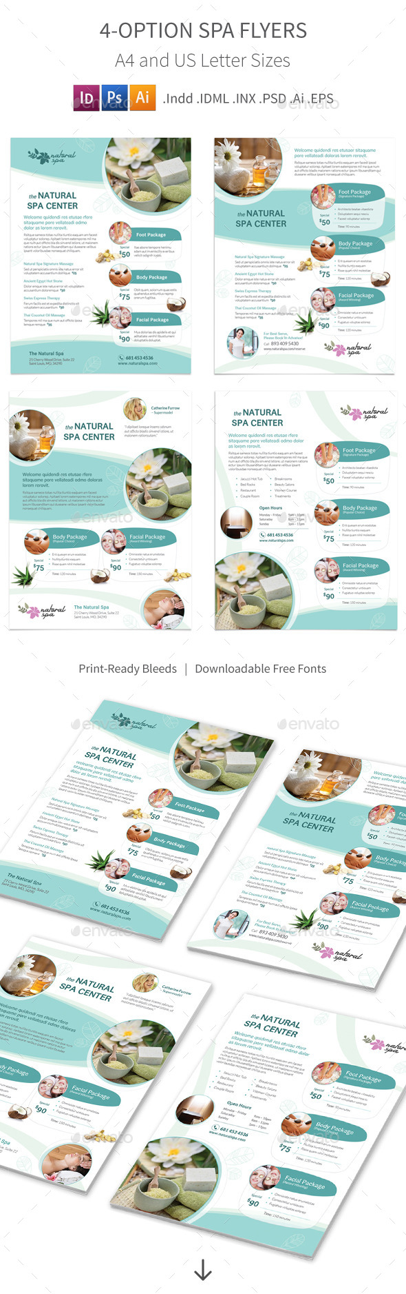 GraphicRiver Spa Flyers 4 Options 11549048