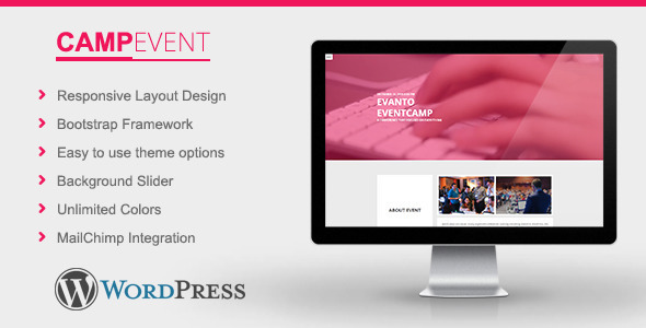 ThemeForest CampEvent Conference Event WordPress Theme 11439450