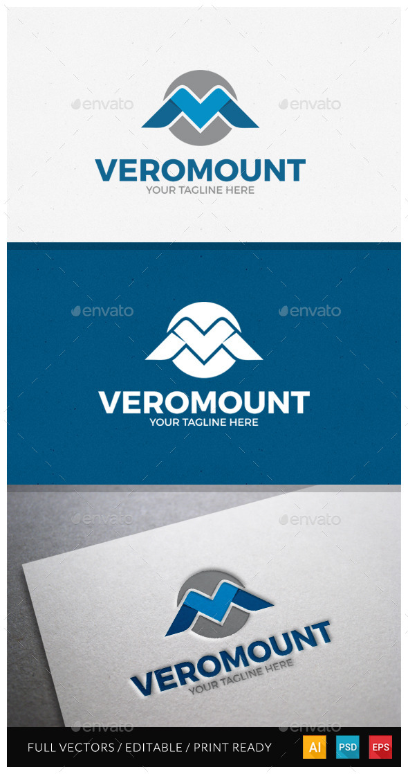 GraphicRiver Veromount Letter VM Logo 11544573