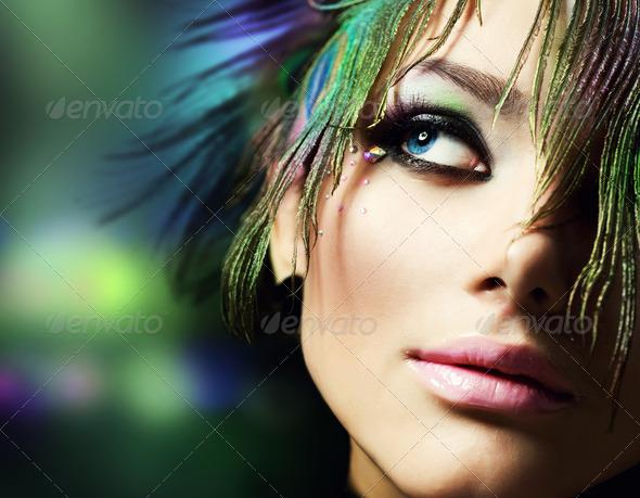 PhotoDune Beautiful Woman Face Perfect Makeup 1158805