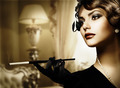 Retro Woman Portrait in Classic Interior - PhotoDune Item for Sale
