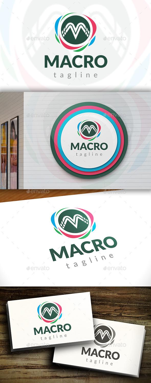 GraphicRiver Macro M Letter Logo 11549500