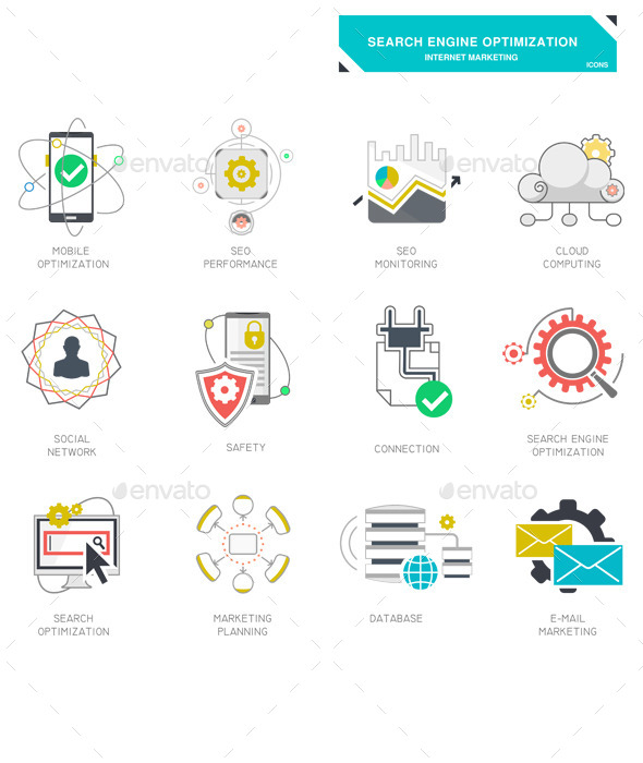 GraphicRiver Seo Internet Marketing Icons 11549505