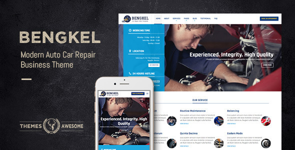 ThemeForest Bengkel Modern Auto Car Repair Business Theme 11502444