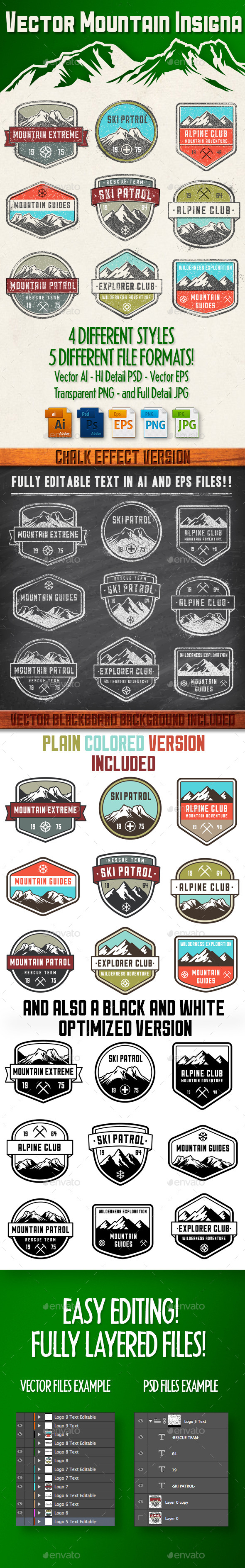 GraphicRiver Vector Mountain Insignia 11549864