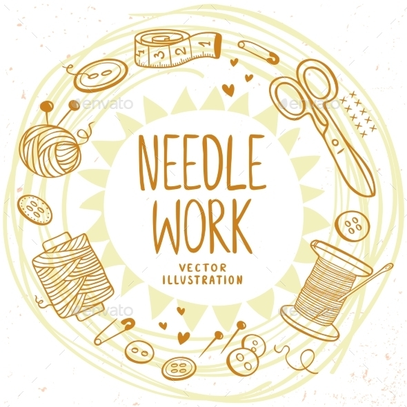 GraphicRiver Needle Work Design 11550053