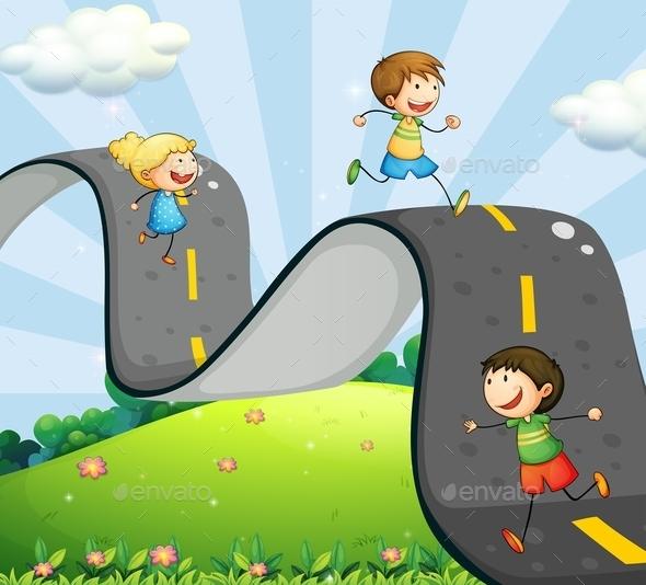 GraphicRiver Children and Road 11550056
