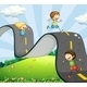 Children and Road  - GraphicRiver Item for Sale
