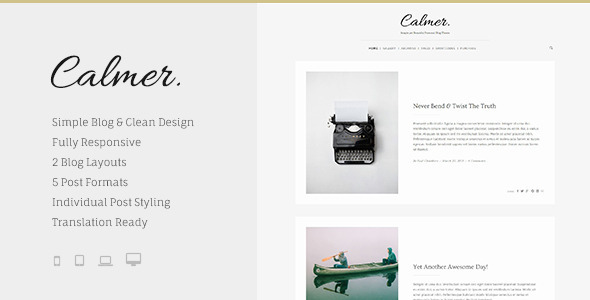 ThemeForest Calmer Responsive Personal Blog Theme 11354296
