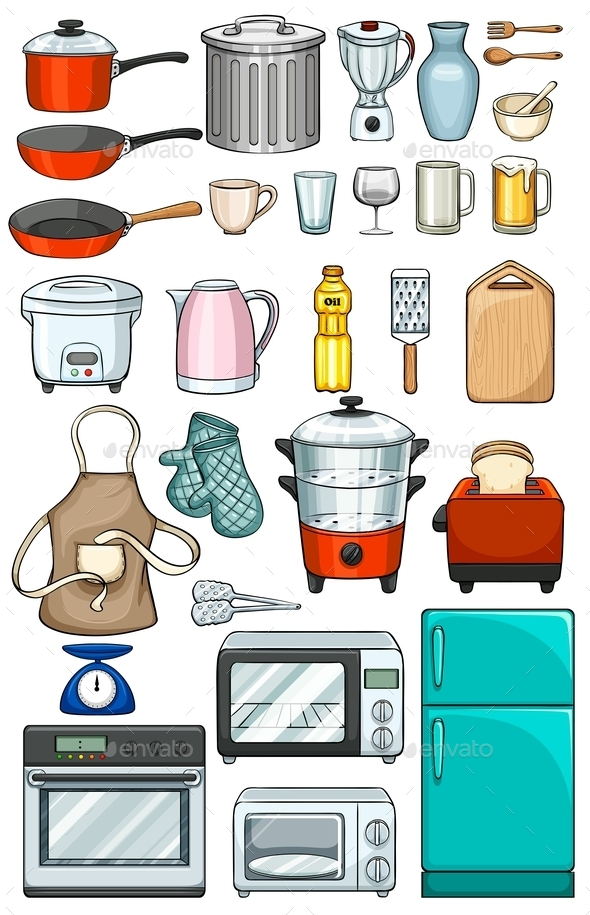 GraphicRiver Kitchen Objects 11550376