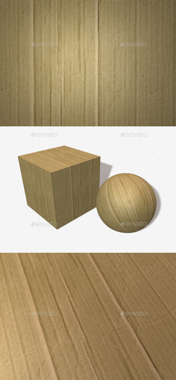 Crinkled Cardboard Seamless Texture - 3DOcean Item for Sale