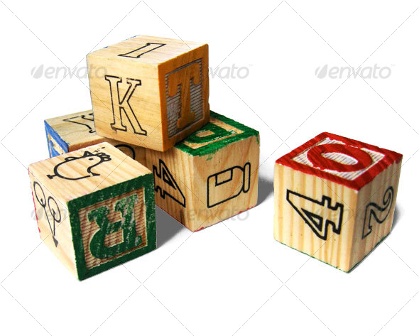Wooden Alphabet Letter Blocks