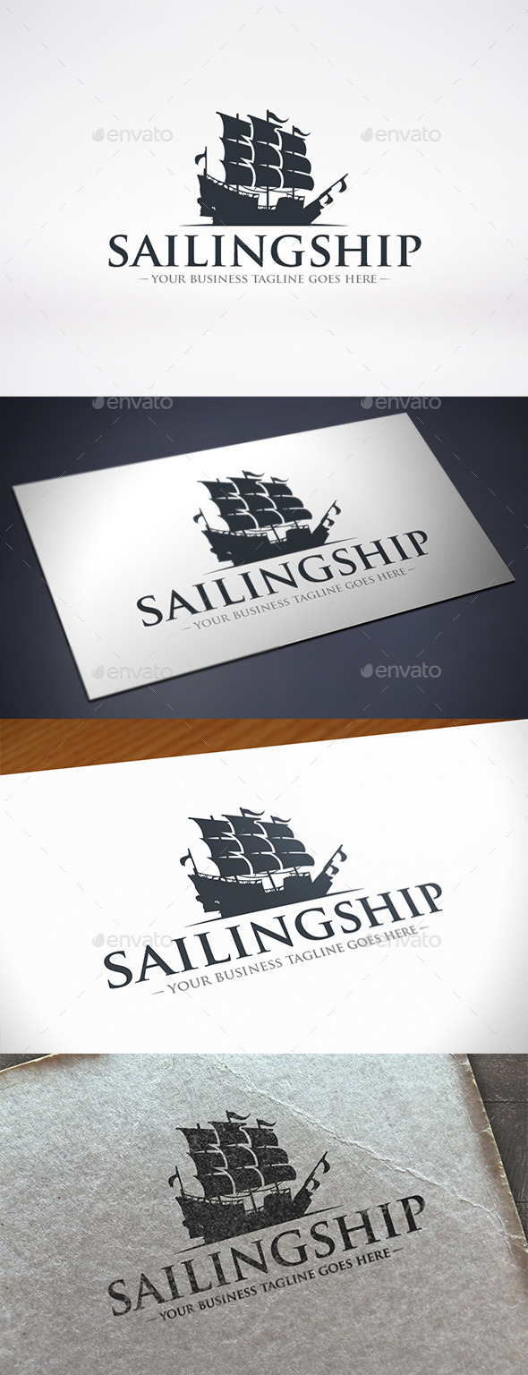 GraphicRiver Sailing Ship Logo Template 11550649