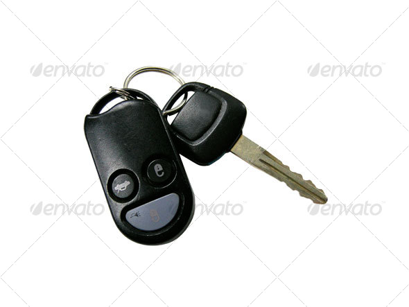 car keys with remote lock - Home & Office Isolated Objects