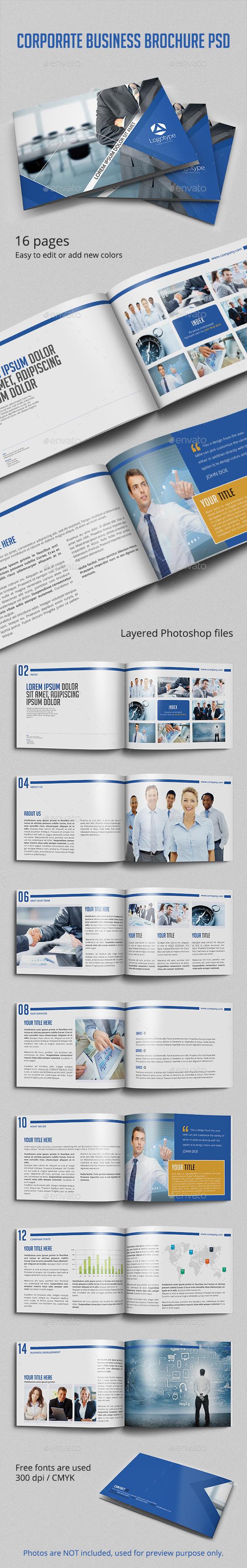 GraphicRiver Corporate Business Brochure PSD Template 11448161